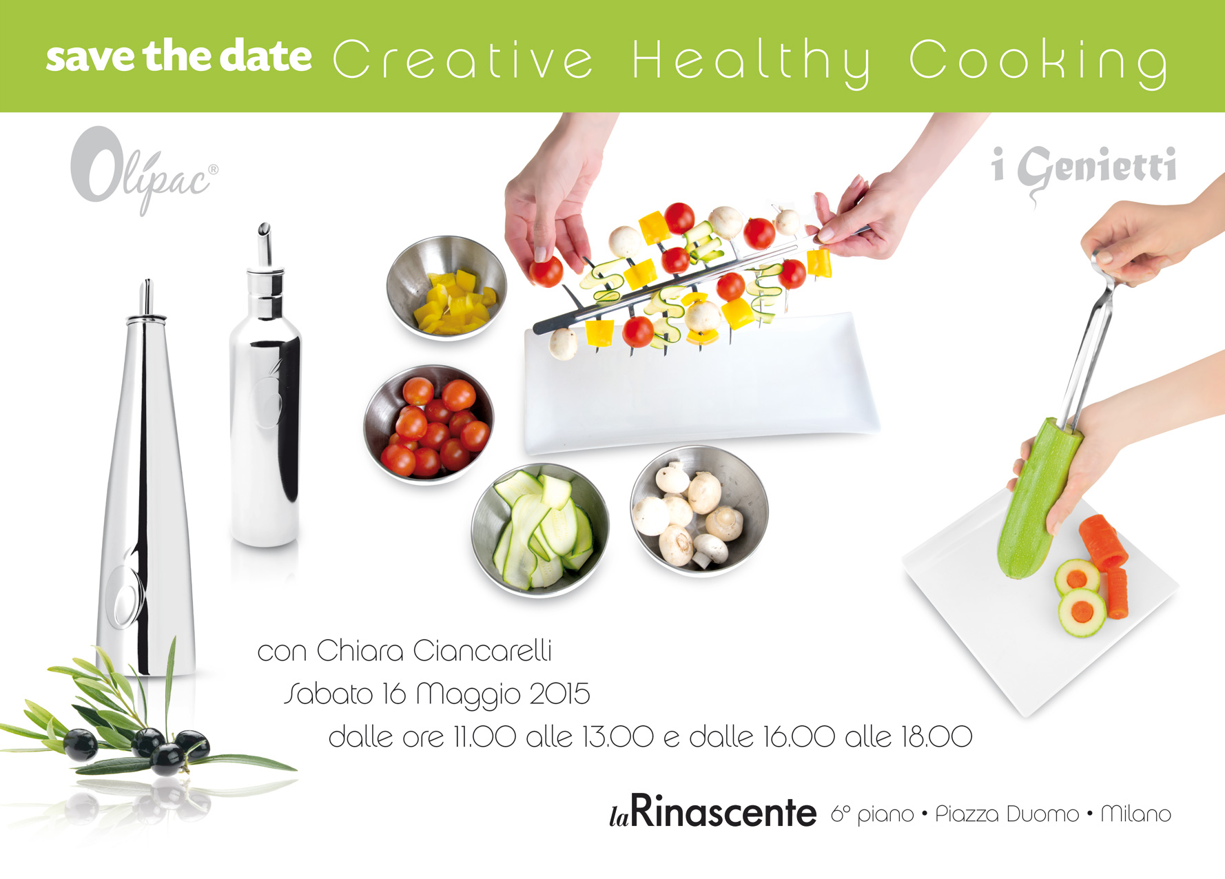"La Rinascente Milano: ""Creative Healthy Cooking"""